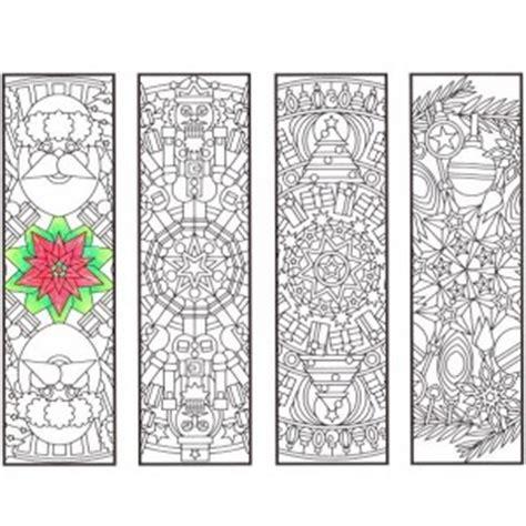 winter bookmarks coloring page winter mandala bookmarks candyhippie coloring pages