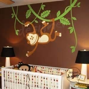 Monkey Wall Murals Monkey Swinging On Vines Wall Sticker Mural