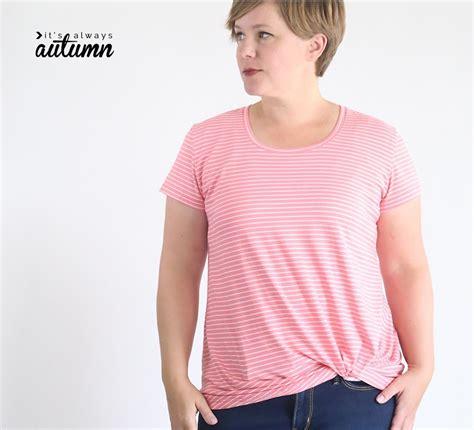 shirt pattern making tutorial pdf tutorial and pattern twist knot t shirt sewing