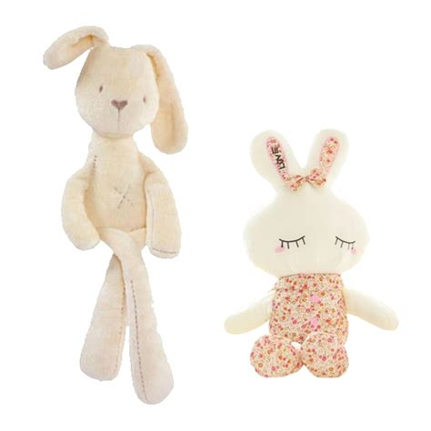 why are stuffed animals comforting hot sale cute baby kids animal white rabbit sleeping