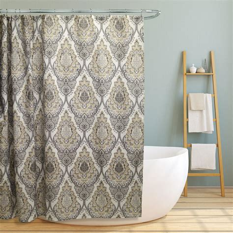 charcoal damask curtains damask shower curtain grey curtain menzilperde net