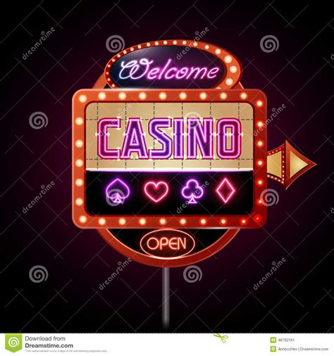 Lights Casino by Neon Sign Casino Stock Vector Image 48702161