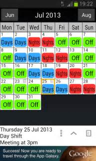 Shift Work Calendar Template by Shift Work Scheduler Software Free