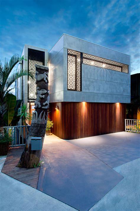 Formidable Decoration Maison Moderne Interieur #8: Entree-maison-citadine-architecture-moderne_0.jpg