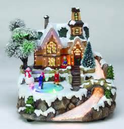 fiber optic and led christmas village from jingle home