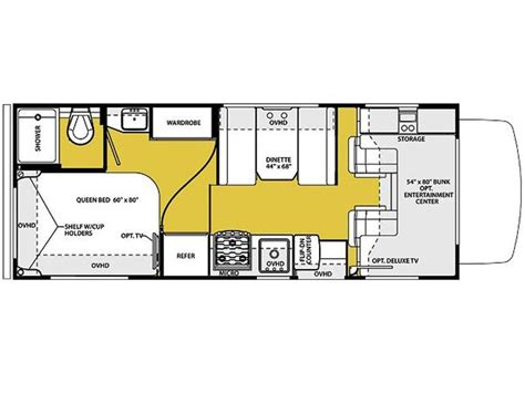24 foot motorhome floor plans 24 foot motorhome floor plans class c motorhome rental