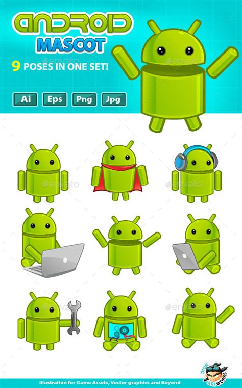 android mascot android mascot by pasilan graphicriver
