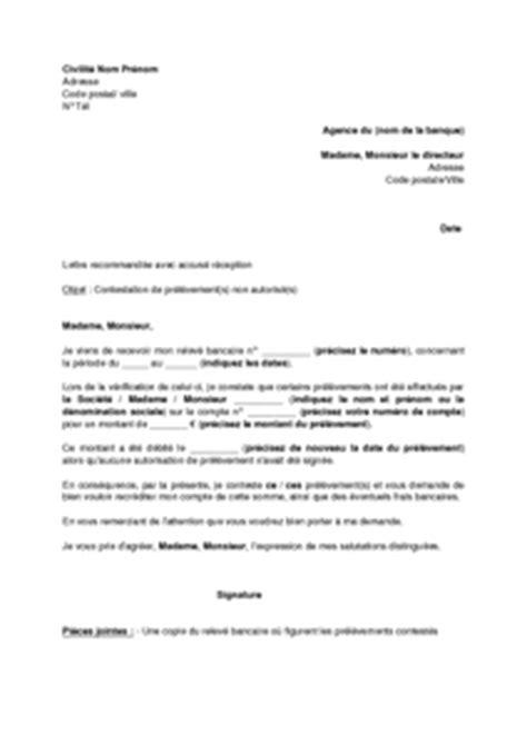 modele lettre d opposition banque