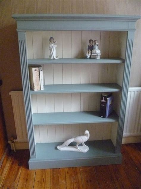 Pine Bookcase Solid Pine And White Chalk Paint On Pinterest How To Paint A Bookcase White