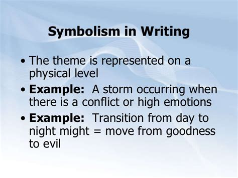 Symbolism Essay Exles by Symbolism