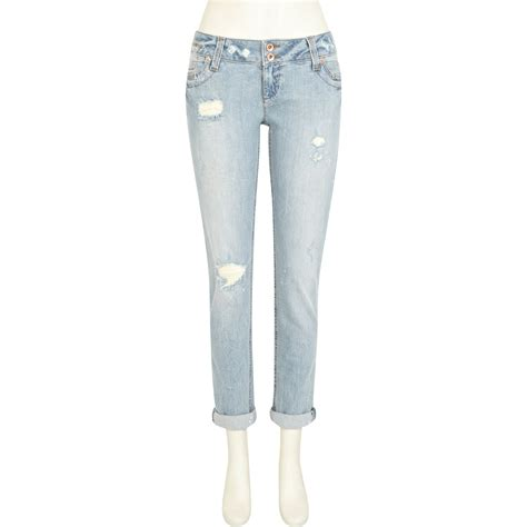 light wash ripped skinny jeans river island light wash ripped matilda skinny jeans in