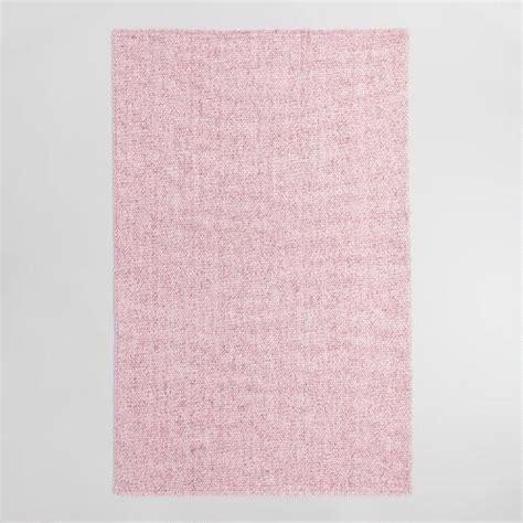 pink wool rug blush pink flatweave sweater wool emilie area rug world market