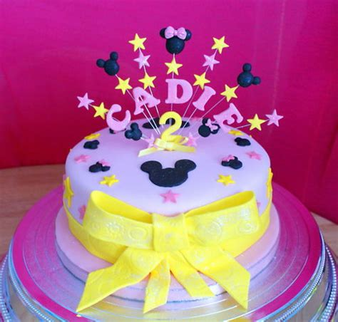 occasion personalised nameage mickeyminnie mouse birthday cake topper ebay