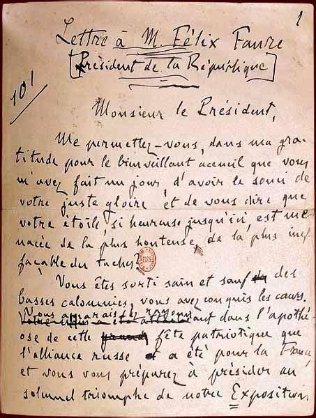 Resume J Accuse Zola by Emile Zola 1840 1902