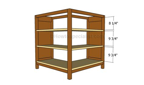 Corner Bookcase Plans Howtospecialist How To Build Build Corner Bookcase
