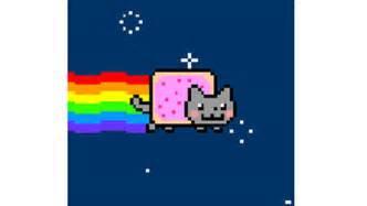 Internet van internetfenomeen nyan cat wordt vaak een bewegend