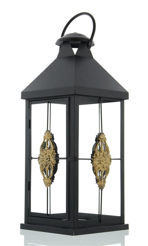 Garten Kerzen Windlicht by Metall Laterne Quot Ornament Quot Schwarz Gro 223 Garten Windlicht