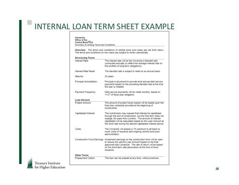 loan term sheet loans in lincoln ne