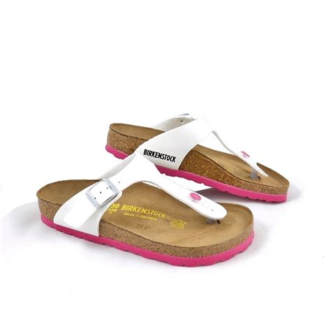 birkenstock sandal sale birkenstock gizeh toe post sandals in white patent