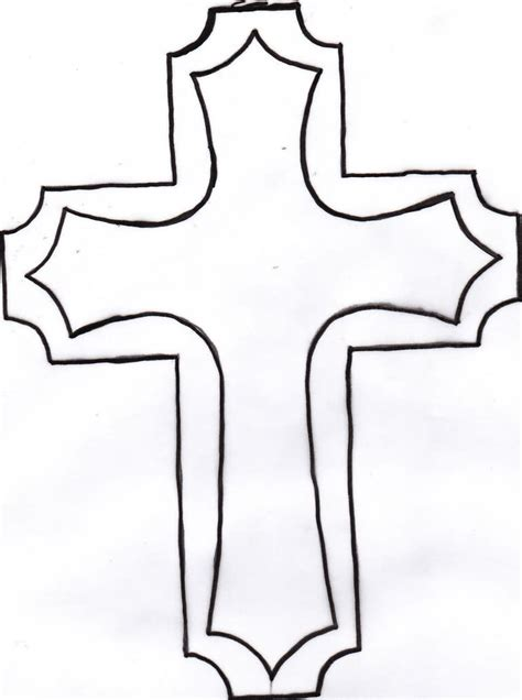 cross outline tattoo cross images designs