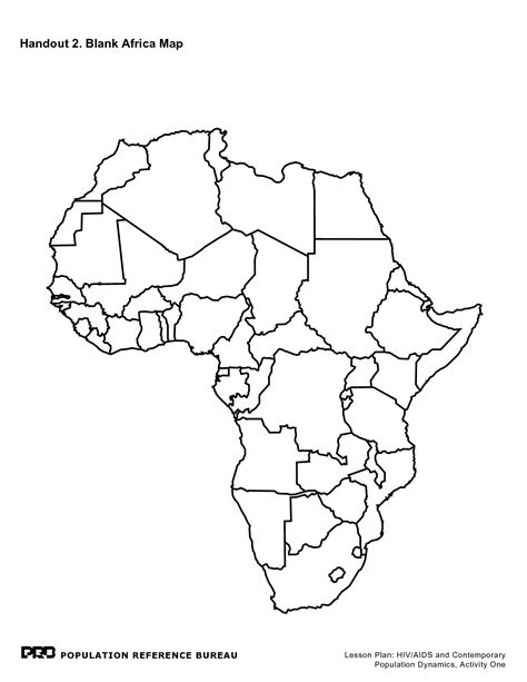 printable map africa countries best photos of blank template of africa blank africa map