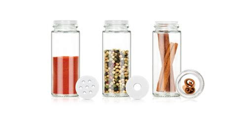 Spice Containers With Stand Spice Jars In Rotating Stand Season 16 Pcs White