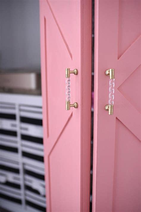 diy coral glam bi fold closet door makeover tutorial