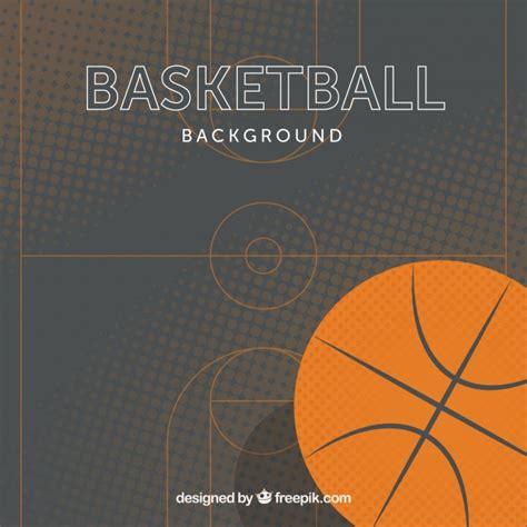 background design basketball basketball background in flat design vector free download