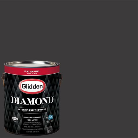 glidden 1 gal nfl 025g dallas cowboys black flat interior paint with primer