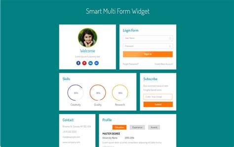 html5 profile template 90 best free html5 form templates 2018