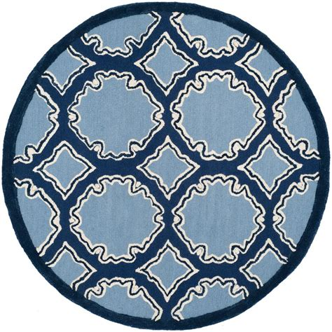 blue circular rug tayse rugs sensation navy blue 5 ft 3 in traditional area rug 4707 navy 6 the