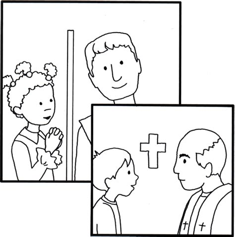 first confession pages coloring pages