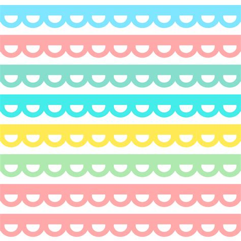 Free digital scalloped border scrapbooking paper