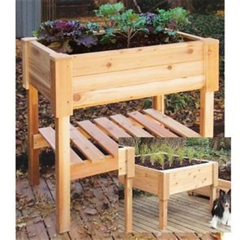 Wooden Vegetable Planters On Legs by Elevated Garden Beds Raise Vegetables The Easy Way