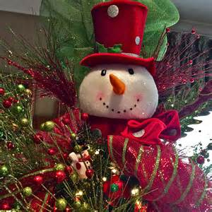 snowman tree topper craft ideas pinterest