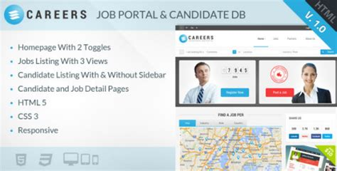 themeforest jobcareer themeforest careers job portal and candidate database