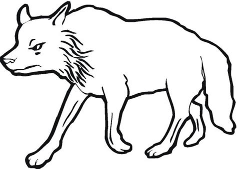 cartoon wolf face coloring pages