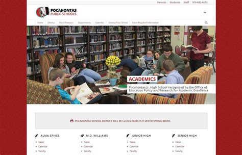 Search School District By Address Designs Website Design Pocahontas School District