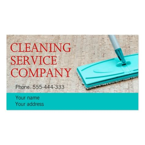 cleaning service double sided standard business cards