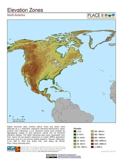america map elevation maps 187 population landscape and climate estimates place