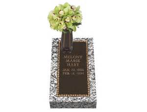 loving hearts bronze cemetery grave marker with vase