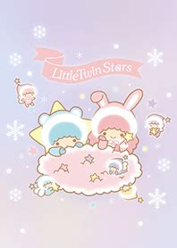 theme line android little twin star littletwinstars snow fairies line theme line store