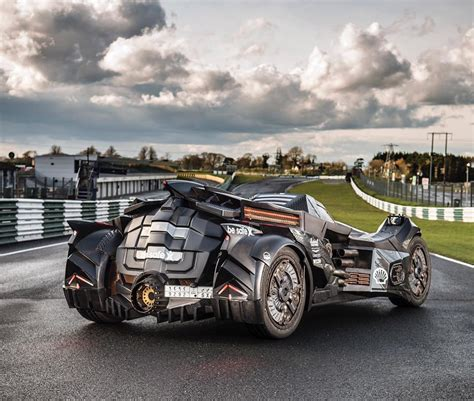 Lamborghini Batmobile Arkham Batmobile With Lambo V10 Races At 2016