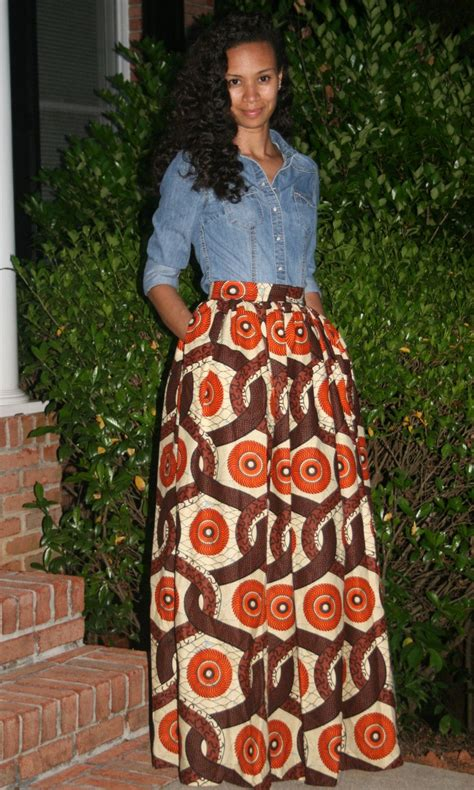 print maxi skirt with pockets by melangemode on