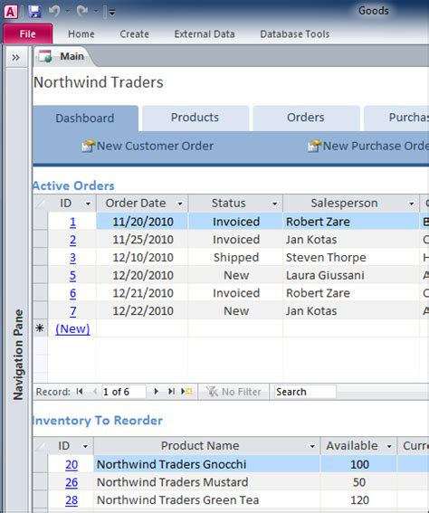 access inventory templates create maintain customer product inventory database for