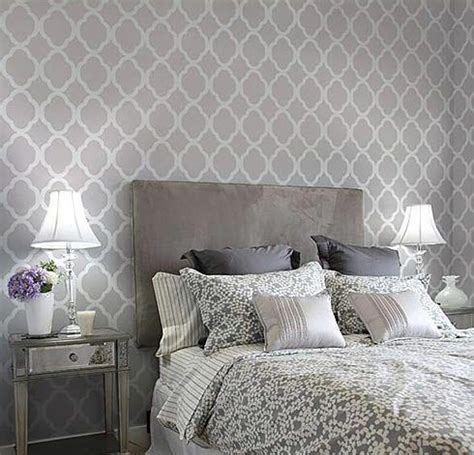 wallpaper for wall behind bed trellis wallpaper behind bed diy home pinterest