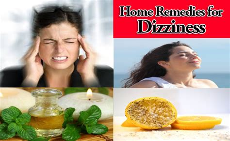 home remedies for dizziness for relief at home
