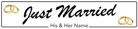 Wedding Car Number Plates by Just Married Rings Wedding Number Plate