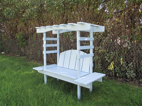 arbour bench ana white children s bench with arbor diy projects