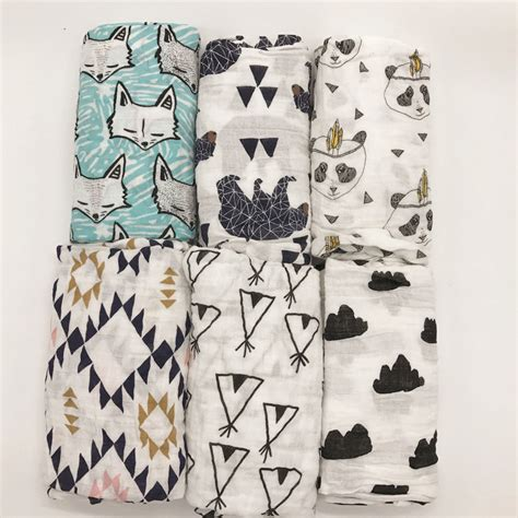 Swaddle Cotton 100 Motif Kemah muslin baby swaddle blanket baby swaddle cotton 100 newborn baby bath towel swaddle blankets